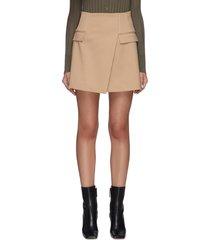frame a-line mini skirt