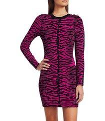 knit tiger-print bodycon dress