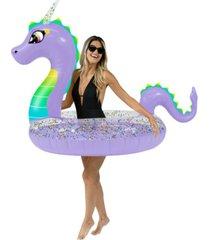 "poolcandy glitter dragon 48"" jumbo swimming pool tube"