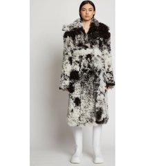 proenza schouler speckled curly shearling coat black/white multi 12