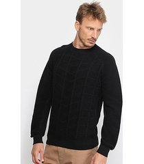 blusa tricot acostamento manga longa masculina