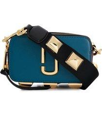 marc jacobs bolsa transversal de couro - azul