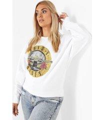 plus gelicenseerde guns n roses sweater, white