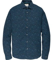 cast iron long sleeve shirt cf print dark sapphire lange mouw blauw