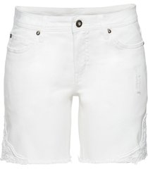 shorts di jeans con pizzo (bianco) - bodyflirt