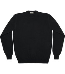 maglione da uomo, linsieme, 100% lana nero, autunno inverno
