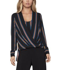 bcbgmaxazria striped high-low blouse