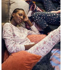 hunkemöller pyjamaset med väska beige