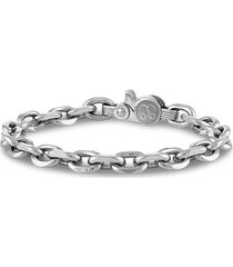 esquire men's jewelry men's stainless steel chunky cable link bracelet