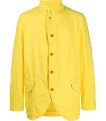 comme des garçons shirt casual cut blazer - yellow