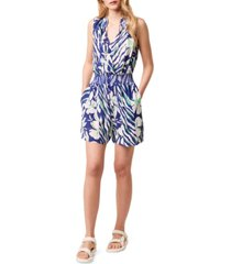 french connection anika-print sleeveless romper