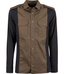neil barrett chest buttoned pocket shirt