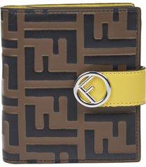 fendi logo motif wallet