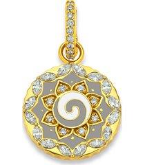 grey enamel swirl pendant