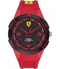reloj ferrari modelo 830748 rojo hombre