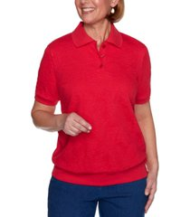 alfred dunner classics jacquard top