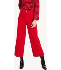 jeans acampanados a la cintura rojo tommy hilfiger