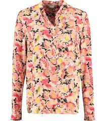 stella mccartney eva shirt watercolor floral silk print