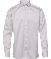 beige diamond weave shirt skjorta business beige eton