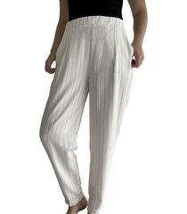 pantalón blanco para mujer x49337