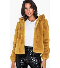 jacqueline de yong jdykiwi faux fur hood jacket otw qi faux fur
