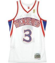 nba swingman jersey allen iverson no3 1996-97 phi76e home tank top