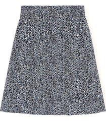 printed georgette skirt in phantom