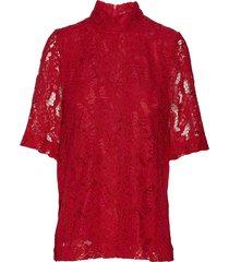 marine blouse blouses short-sleeved rood just female