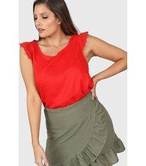 blusa roja vindaloo lino