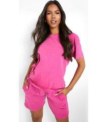 overdye sweat shorts, pink
