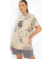oversized tie dye t-shirt, stone