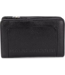 marc jacobs the textured box compact wallet - black