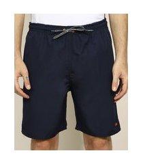 bermuda masculina esportiva ace com bolsos azul marinho