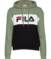 lori hoodie sweat hoodie trui groen fila