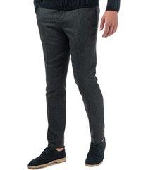 mens glentro semi plain wool trousers