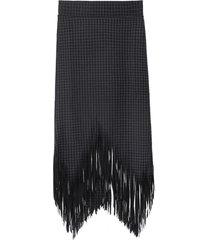 falda cuadrillé flecos negro nicopoly