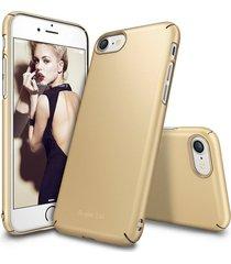 estuche protector ringke slim iphone 7 - dorado