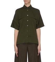 short sleeve satin blouse