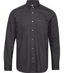 button down brushed twill shirt skjorta casual grå calvin klein