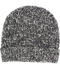 dolce & gabbana chunky-knit beanie - black