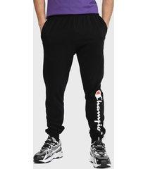 jogger champion jersey jogger pant graphic negro - calce regular