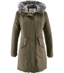 parka con rifiniture in ecopelliccia (verde) - bpc bonprix collection