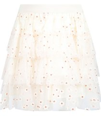 bonpoint ivory skirt for girl with flowers