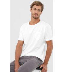 camiseta colombo bolso branca - branco - masculino - algodã£o - dafiti