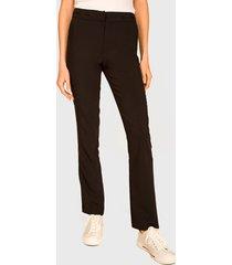 pantalón ash recto formal negro - calce regular