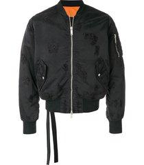 unravel project distressed basic bomber jacket - black
