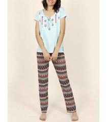 pyjama's / nachthemden admas homewear pyjamatop en -broek etnische adma's