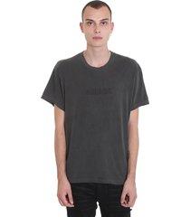 amiri t-shirt in grey cotton