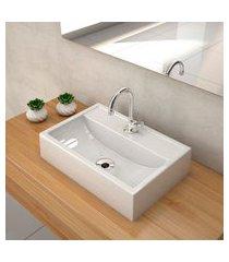 kit cuba para banheiro trevalla q45e torneira válvula 1pol branco gel