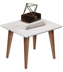 conjunto mesa lateral e mesa de centro maju - branco - rpm móveis